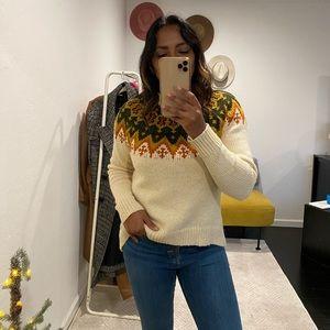 Madewell Fair Isle Sweater (small)